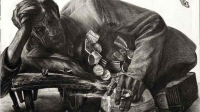 Омский художник нарисовал десятки ветеранов— жуткие портреты показывают войну такой, какая она есть