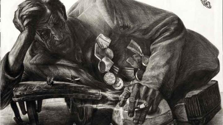 Омский художник нарисовал десятки ветеранов — жуткие портреты показывают войну такой, какая она есть