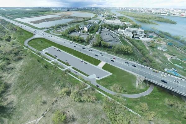 Развязку планируют построить на месте проселочной дороги