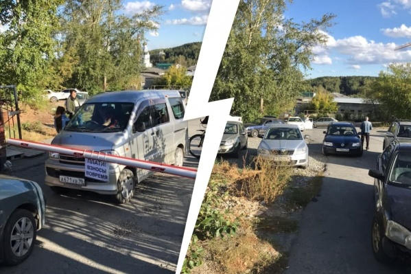 Водитель заблокировал въезд в ГСК 272