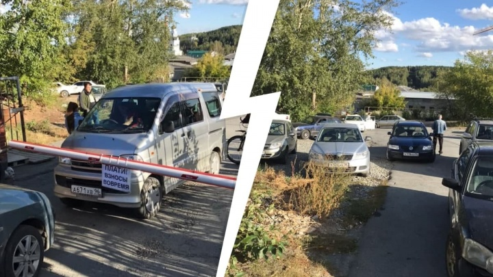 «Называет себя императором». В Чкаловском районе водитель заблокировал въезд в гаражный кооператив