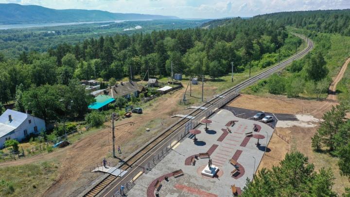 В Самарской области появилась железнодорожная платформа-гитара