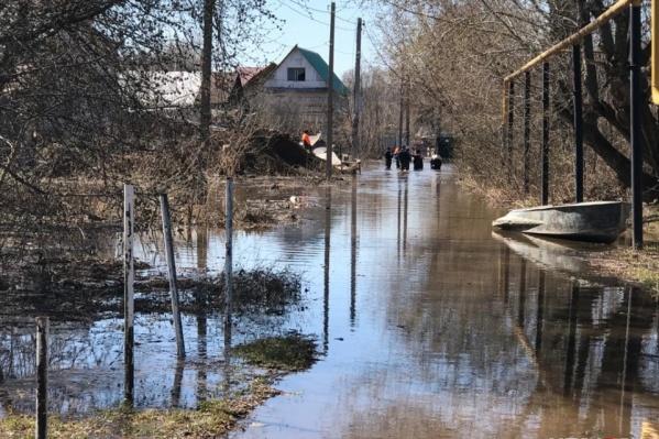 Улицу Заречную в этом году знатно затопило