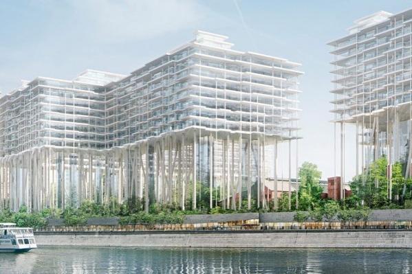 Многофункциональный комплекс на месте Бадаевского завода  в Москве от швейцарского архитектурного бюро Herzog & de Meuron