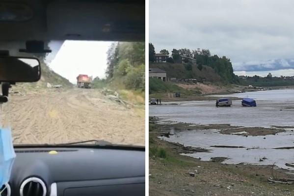 По пути в родное село верхнетоемцы преодолевают настоящую полосу препятствий — грязь и воду