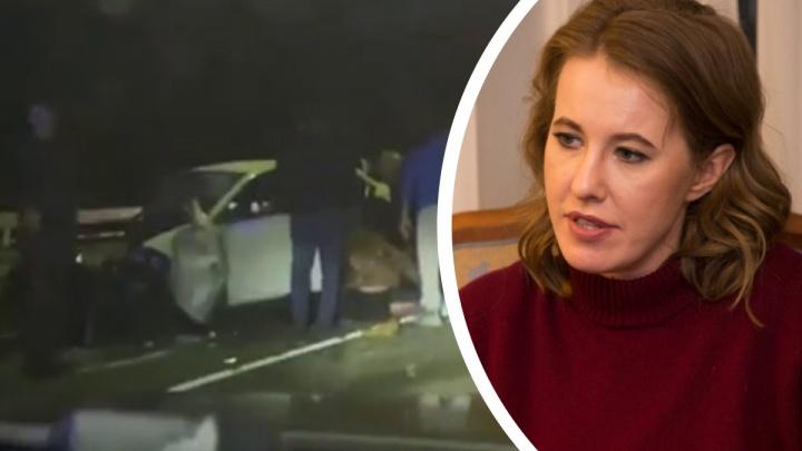 «Я в ужасе»: в автомобиле, попавшем в смертельное ДТП в Сочи, ехала Ксения Собчак