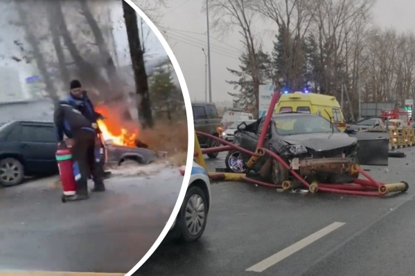 В этой аварии пострадали два водителя