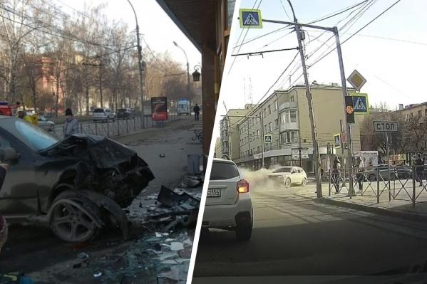 Авария произошла в районе 17:30 на Красном проспекте