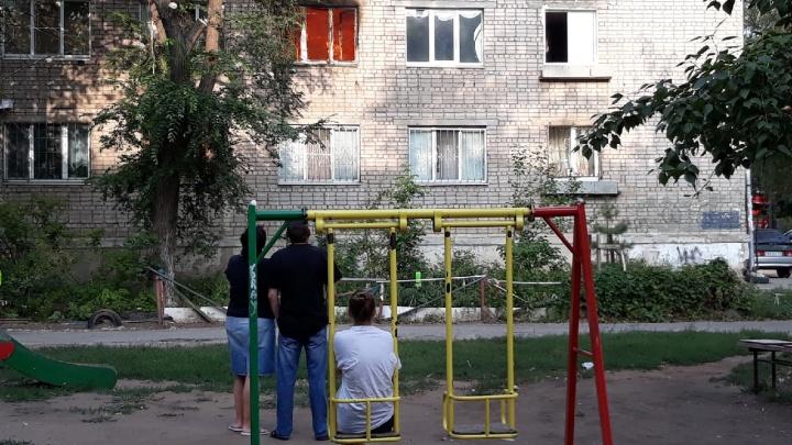 «Мы слышали хлопок»: в Самаре сгорела квартира