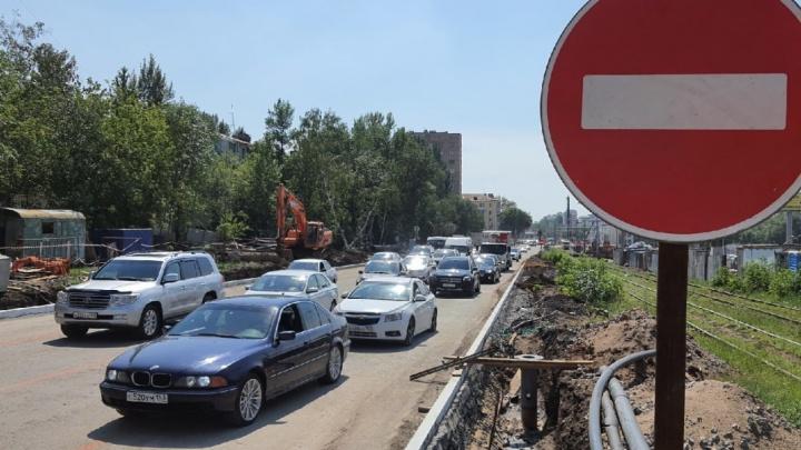 Жители Самары пожаловались на пробки на дублере Ново-Садовой