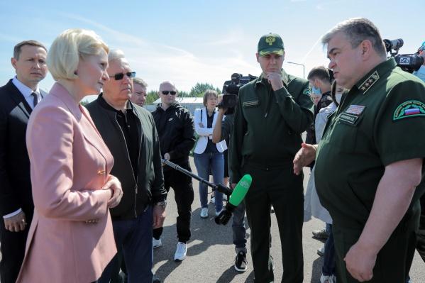 Абрамченко сегодня показали будущую базу лесопожарного центра под Красноярском