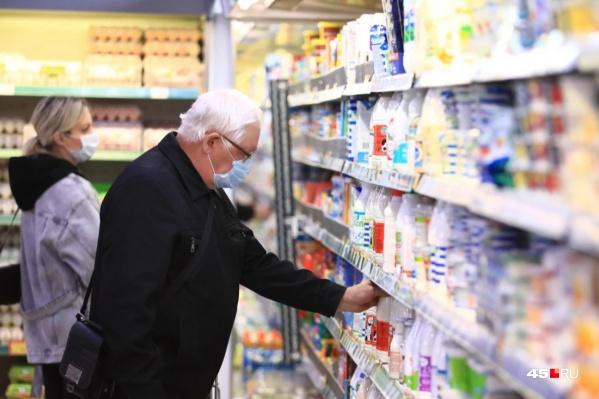 Продукты в Зауралье подорожали на 7,61%