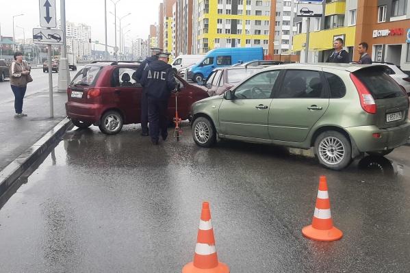 В аварии пострадала четырехлетняя пассажирка одной из машин
