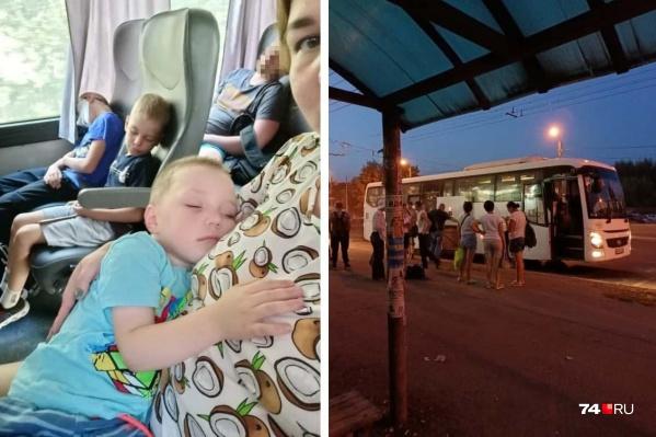 Женщина ехала в Челябинск с двумя маленькими детьми, одному из них в дороге стало плохо