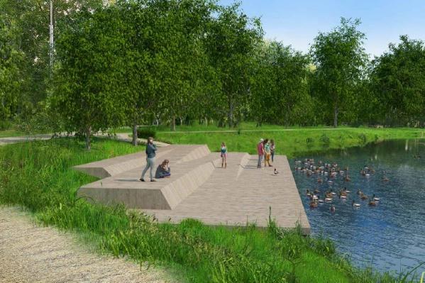 В планах — строительство специальных спусков к воде