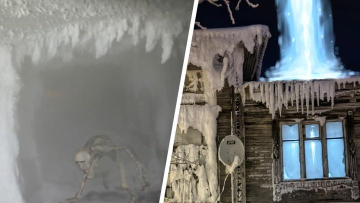 «Не хватает светящихся глаз в темноте»: что в других городах думают про ледяной дом на Сульфате