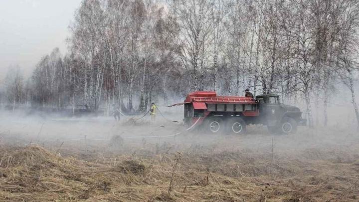 На территории Тюменской области ввели режим ЧС — горит Аромашевский район