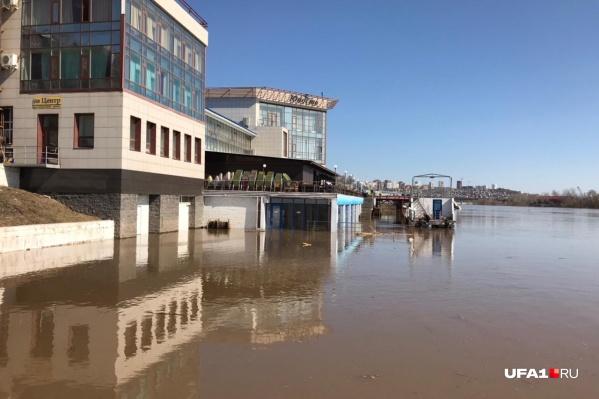 Уровень воды в реке Белой продолжает подниматься