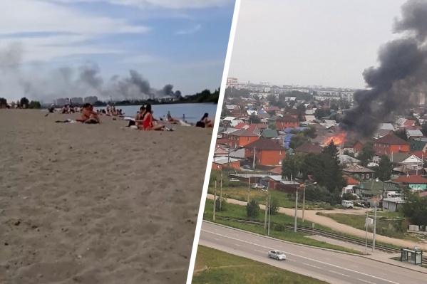 Дым заметили на одном из пляжей города