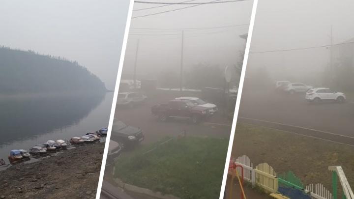 День больше похож на сумерки: крупные поселки Эвенкии накрыл смог от пожаров в Якутии