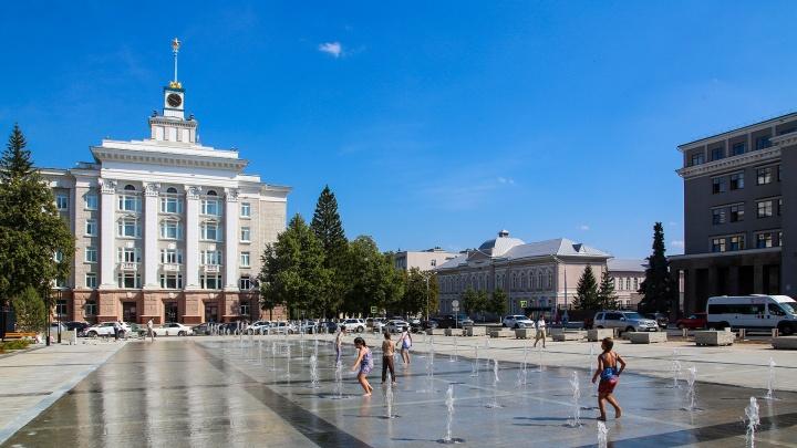 В Уфе заработал фонтан на Советской площади
