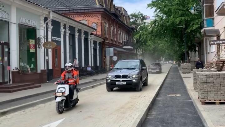 В Краснодаре с опозданием открыли улицу Чапаева после ремонта