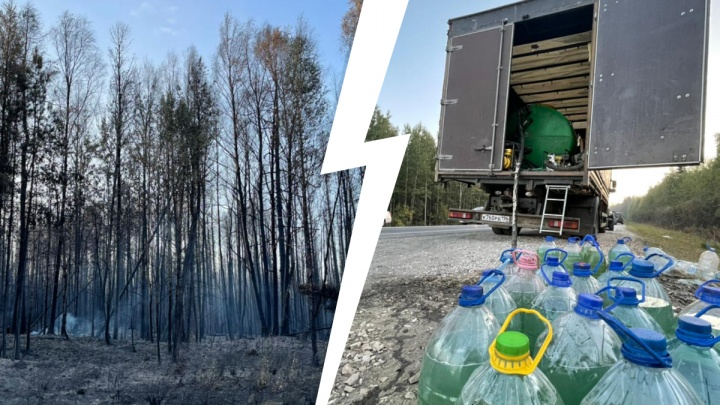 «Падают деревья. Страшно. Холодно». Волонтеры тушат уральские леса из бутылок с водой