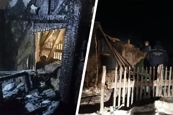 Дом практически полностью выгорел