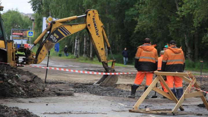В Архангельске на неделю перекроют часть проспекта Ломоносова. Автобусы поменяют маршрут