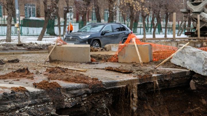 Стала известна дата открытия движения на улице Комсомольской в Уфе