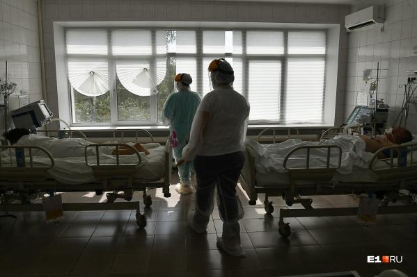 Число случаев ковидной госпитализации в Свердловской области резко выросло