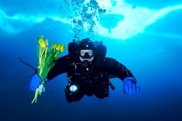 Как вам такой подводный букет?