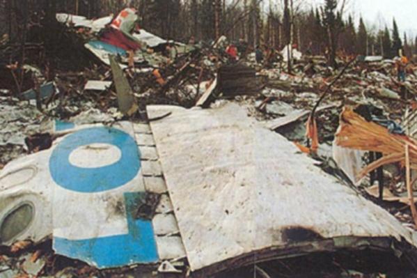 Обломки самолета были разбросаны в радиусе двух километров