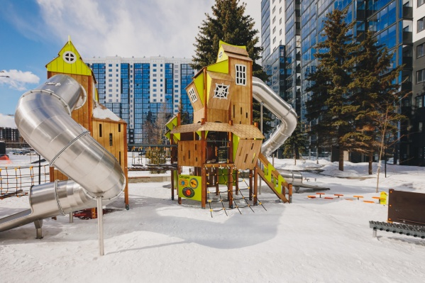 Дворы жилого комплекса EVO Park — рай для детей всех возрастов, включая малышей и тинейджеров