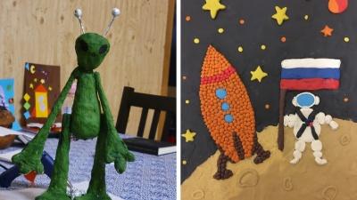 Зеленый инопланетянин и космонавты из пластилина: самые необычные поделки новосибирских детей — 16снимков