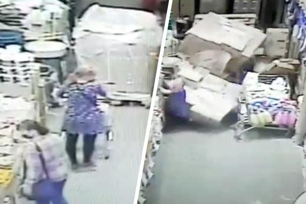 Покупательница получила тяжелые травмы