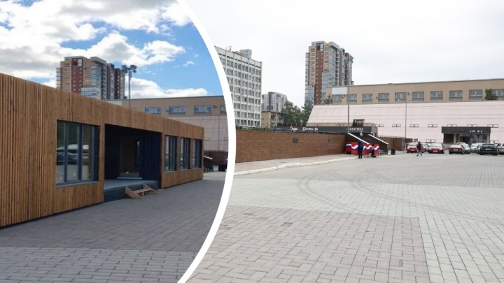 В Челябинске после полугодовой волокиты убрали незаконный павильон возле памятника Курчатову