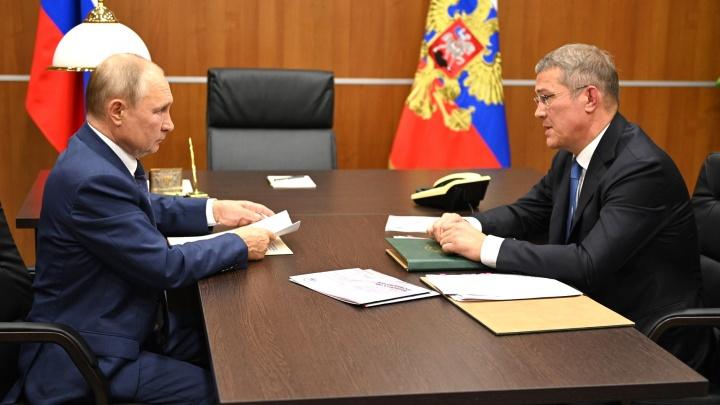 Владимир Путин провел рабочую встречу с Радием Хабировым