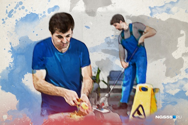 В обязанности призывника входят поддержание порядка и работа на кухне