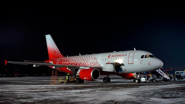 Из-за метели шесть самолетов вместо Омска сели в Новосибирске