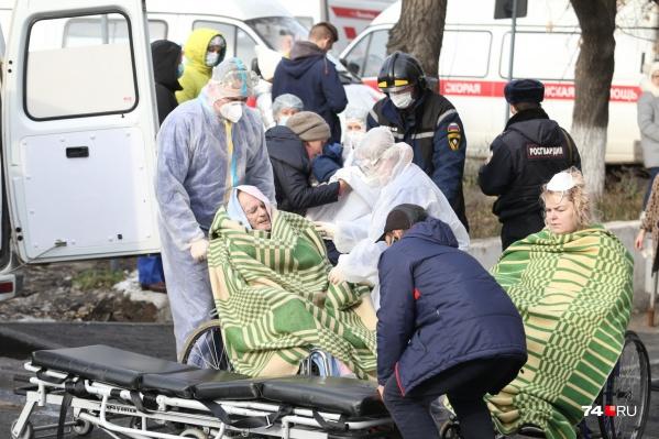 В момент взрыва в ГКБ <nobr>№ 2</nobr> находились полторы сотни больных с поражением легких