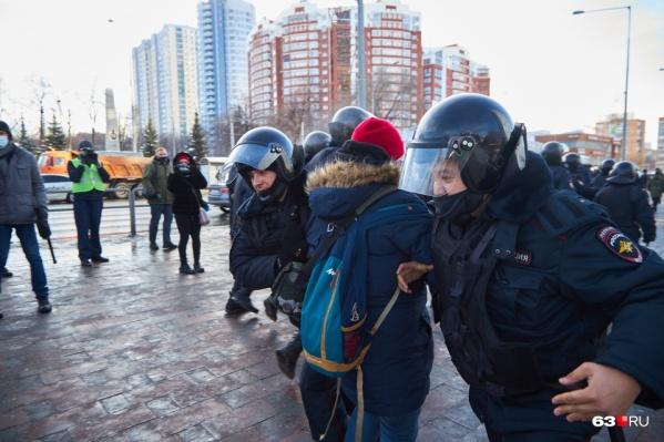 Основанием для задержания активиста стала несогласованная акция в Самаре 31 января
