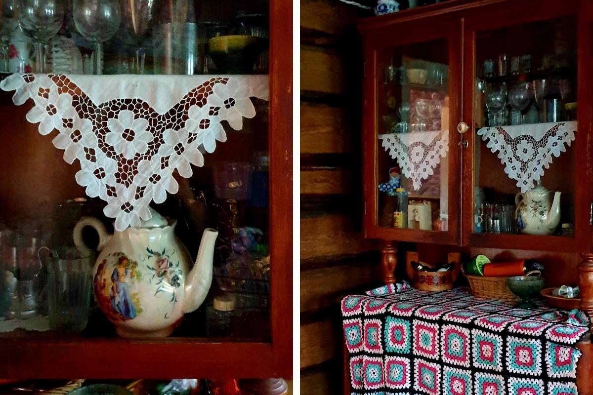 Сервант и комод подарил друг семьи, которому очень дороги эти предметы интерьера. Они достались ему в наследство от бабушки и дедушки<br>