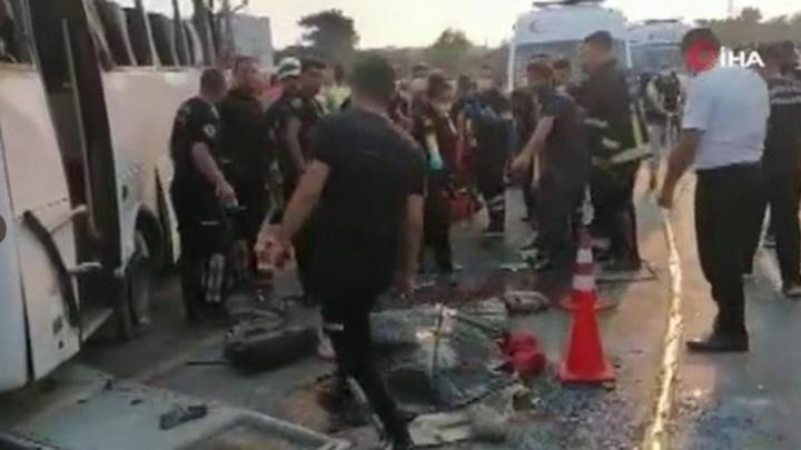 Появилось видео с места ДТП в Турции, в котором погибли четверо самарских туристов