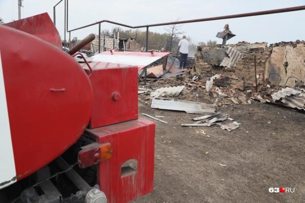 В Гвардейцах и Немчанке сгорели несколько жилых домов