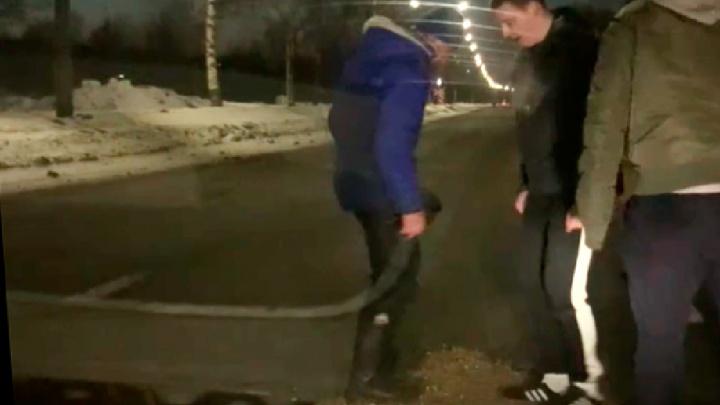 «Дорожники себе премию выпишут»: ярославцы заделали огромную яму на проезжей части. Видео