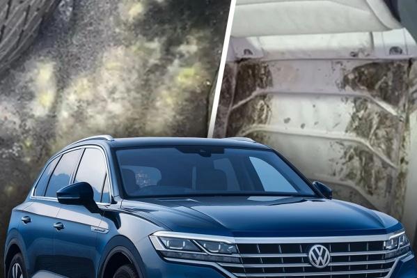 Салон Volkswagen Touareg затянуло черной плесенью