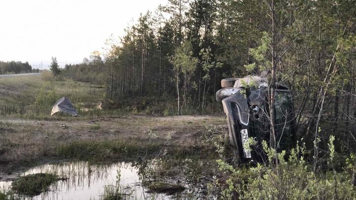 В Сургутском районе в ДТП погиб водитель. Вот видео с места аварии