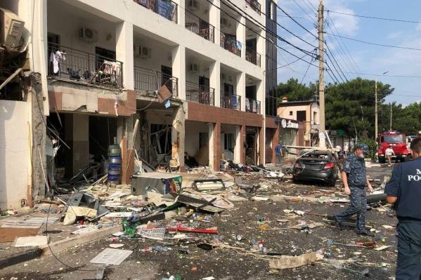 Взрыв случился на первом этаже здания на улице Советской