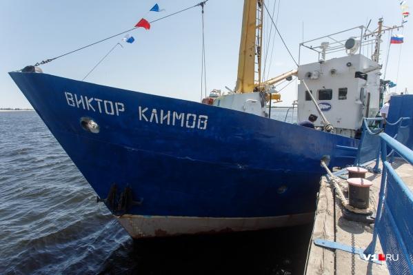 Траулер в Волгоград прибыл с Ладожского озера